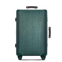铝框行李箱旅行箱万向轮拉杆箱包密码皮箱子20韩版学生24男女28英寸 墨绿色 20英寸