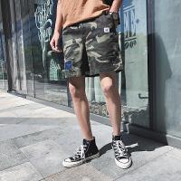 2018夏季新款迷彩休闲短裤男士加肥大码宽松五分裤韩版潮流男裤子