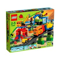 乐高LEGO 得宝积木拼插积木玩具 火车套装L10508火车玩具2岁+