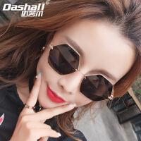 新款太阳镜2020女士时尚偏光眼镜金属多边形太阳眼镜网红潮流墨镜