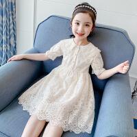 女童连衣裙夏装女孩童装蕾丝裙子夏季洋气儿童公主裙