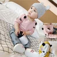 婴儿上衣卡通春秋小宝宝T恤衫弹力打底A类0-3-6-9-12个月新款纯色