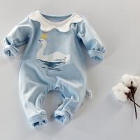蓓莱乐婴儿连体衣服宝宝新生儿哈衣0岁3月服6满月0春春装外出服