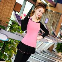 瑜伽服套装秋冬季三件套秋冬长袖速干健身房跑步运动女修身显瘦