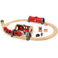[当当自营]BRIO 声光地铁车站套装 儿童益智拼插木制轨道小火车玩具 BR33513