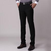秋冬季男士西裤修身韩版休闲黑色西装裤商务正装上班西服裤子青年