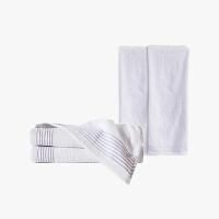 当当优品家纺毛巾套装 纯棉抗菌防臭毛巾家庭装 吸水面巾2条浴巾2条 白色
