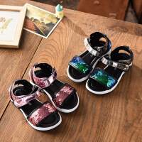 夏季凉鞋儿童休闲沙滩鞋女童亮片鞋子