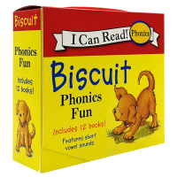 Biscuit Phonics Fun 小饼干狗自然拼读儿童绘本读物12本盒装 英文原版 My First I Can