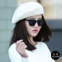 韩版贝雷帽子女士画家帽复古英伦南瓜帽百搭休闲八角帽潮女帽
