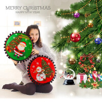 圣诞礼品周边圣诞抱枕靠垫公司礼品可定做加LOGO
