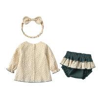 小童公主裙两件套春秋女宝宝裙子小碎花女童春款连衣裙