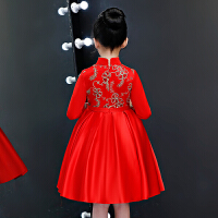 中国风儿童小女孩唐装公主裙新年装拜年服女童旗袍秋冬装