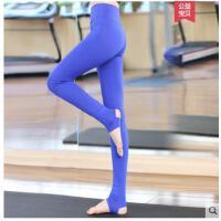 高腰裤显瘦踩脚瑜伽裤运动裤跑步薄款女弹力紧身性感女士健身裤瑜珈裤子