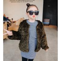 女童加绒2017冬装新款童装儿童夹棉毛毛衣毛绒棉衣棉袄棉外套