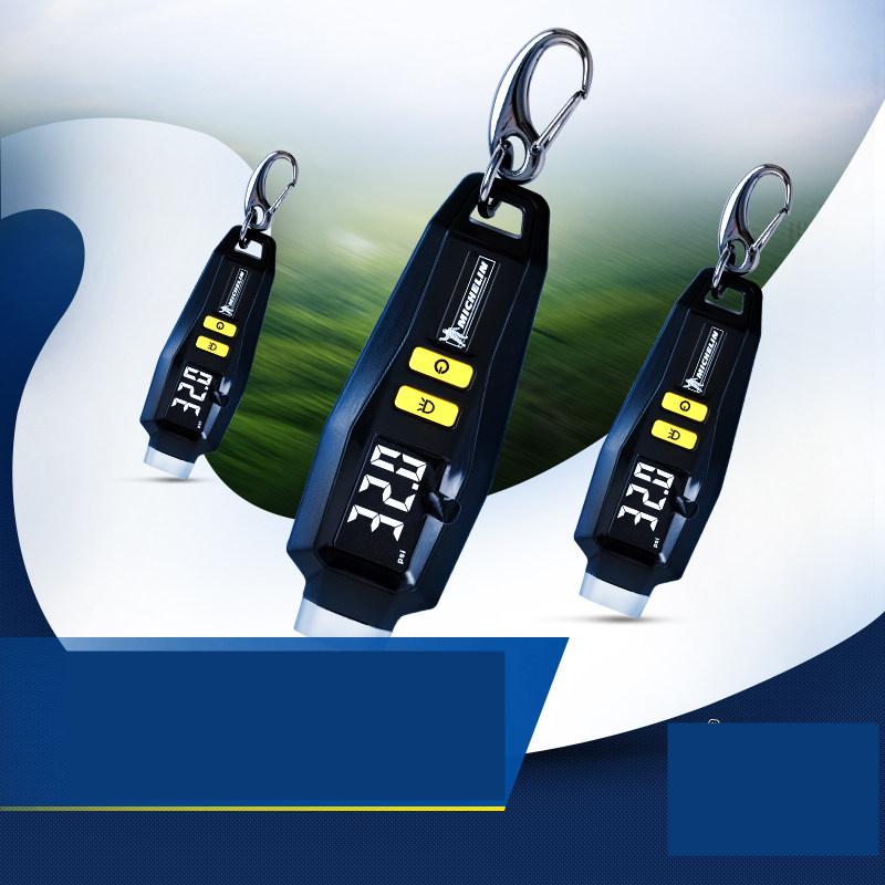 【支持礼品卡】钥匙链数显汽车胎压表高精度轮胎气压表监测器电子胎压计z3e大LCD显示屏 自带照明灯 钥匙链设计
