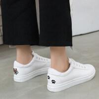 韩版休闲运动鞋女板鞋 百搭小白鞋女皮面学生平底女鞋