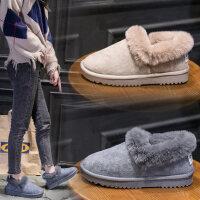 加绒保暖平底毛毛鞋加厚韩版棉鞋短靴女士雪地靴女