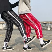 子男女宽松欧美街头hiphop街舞学生情侣supreme束脚裤潮牌