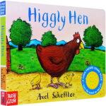 发声书0-3岁 英文原版 Higgly Hen 纸板 咕噜牛作者 Axel Scheffler
