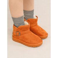 儿童雪地靴男童女童雪地棉鞋子洋气韩版小童短靴棉靴