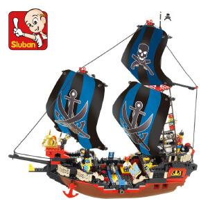【当当自营】小鲁班加勒比海盗系列儿童益智拼装积木玩具 库克号M38-B0128