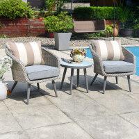 阳台茶几休闲藤椅地中海风三件套件户外家具花园桌椅组合