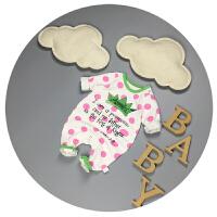 婴儿衣服春秋新生儿连体衣0-3个月女宝宝哈衣秋装6-9爬爬服潮