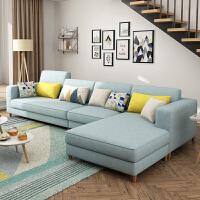 北欧沙发经济型简约现代小户型布艺沙发客厅整装转角家用沙发