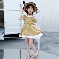 女童连衣裙夏装蕾丝裙子中大儿童裙子夏季洋气公主裙