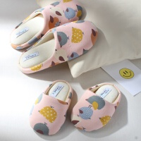 韩版秋冬季一家三口棉拖鞋男女童棉鞋可爱半包跟室内子居家拖鞋