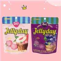【包邮】韩国进口 好丽友水果口味软糖 葡萄味软糖/桃味软糖 49g*4
