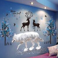 儿童房夜光星星贴卧室温馨3D立体墙贴纸荧光贴创意个性自粘墙纸画