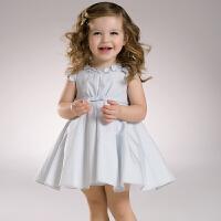 davebella戴维贝拉 夏装新款女童短袖连衣裙 夏季公主裙32096
