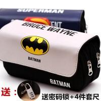 新款男孩笔袋 大容量学生笔袋 超级英雄联盟男生笔袋文具盒文具袋