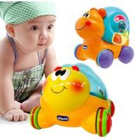 正版智高chicco意大利 婴幼儿爬行玩具车 蜜蜂球球车 蜗牛球球车