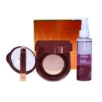 MZING 韩国智能彩妆气垫CC霜bb霜 卸妆油120ML卸妆水2件套 粉底液定妆粉 保湿遮瑕