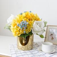 仿真花束绣球假花玫瑰花摆件客厅卧室装饰品摆件餐桌花艺摆设