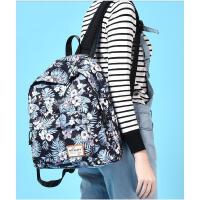 韩版学院风中学生书包双肩包女 新款印花背包休闲旅行包男 时尚双肩小包