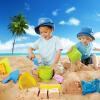 Hape沙滩9件套沙滩玩具经典套装玩沙挖沙工具送沙滩收纳袋运动户外玩具沙滩玩具Suit0001