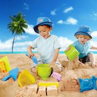Hape沙滩9件套1-6岁沙滩玩具经典套装玩沙挖沙工具运动户外玩具 E8382 送沙滩收纳袋
