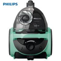 飞利浦 (PHILIPS) 卧式吸尘器家用大功率强劲吸力多种吸嘴无尘袋 FC5833/81 薄荷绿