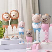 树脂创意客厅动物摆件小房间布置摆设家居室内桌面装饰软装工艺品