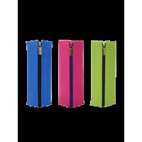 日本KOKUYO国誉笔袋对开式女日系简约文具袋男大容量铅笔方形儿童帆布笔盒小学生初中高中生大学生用硅胶