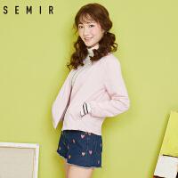 森马夹克女秋棒球服女装韩版运动外套宽松立领学生上衣