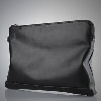 新款大容量商务手拿包男真皮休闲软皮手抓包时尚男士手包牛皮钱包潮包新品 黑色