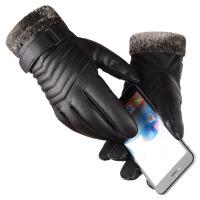 手套男士冬季骑行加厚加绒保暖防风防水触屏户外手套骑车摩托车 均码