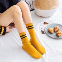 户外袜子女中筒袜学院风堆堆袜女 学生纯棉女袜