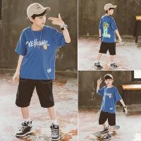 男童夏装套装儿童装短袖短裤帅洋气男孩运动两件套