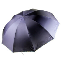 [当当自营]天堂伞 30329 蓝色 三折晴雨伞黑胶纯色格子包边商务伞防紫外线遮阳伞